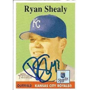 Ryan Shealy Signed Royals 2007 Topps Heritage Card