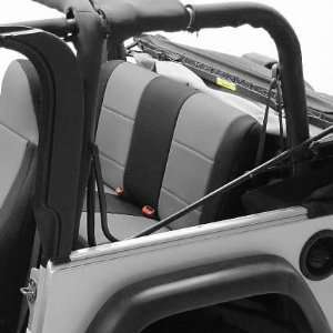 Coverking SPC204 Black / Gray Rear Seat Cover for Jeep Wrangler 2 Door