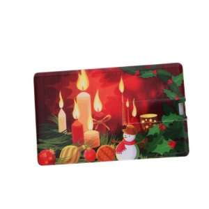 2GB Candle & Snowman Pattern Credit Card Style USB Flash