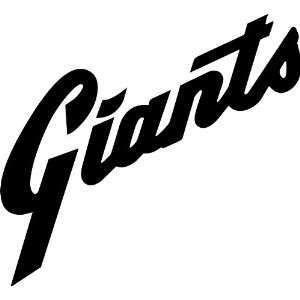 San Francisco Giants MLB Vinyl Decal Sticker / 8 x 7.3