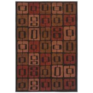 Angela Adams 3V 08500 Munjoy Black Contemporary Rug Size 52 x 79