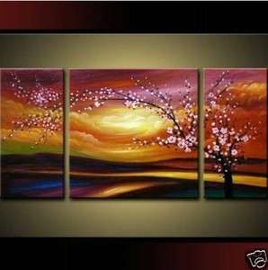 Modern abstract huge oil painting canvas   cherry blossom