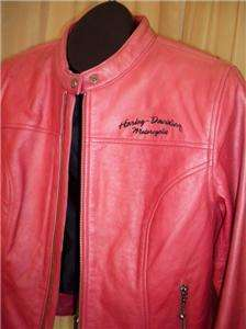 Harley Davidson Factory Distressed Red Ambition Leather Jacket HD