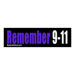 Remember 9 11   Patriotic Bumper Stickers (Medium 10x2.8