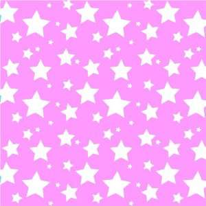 STARS SOFT PINK & WHITE PATTERN Vinyl Decals 3 Sheets 12x12 Cricut