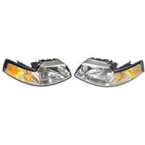 Mustang Passenger/Driver Lamp Assembly Headlight 2 pc Pair Automotive