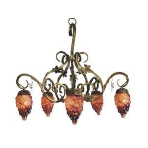 Dale Tiffany TH60358 Albany Light Fixture, Antique Brass