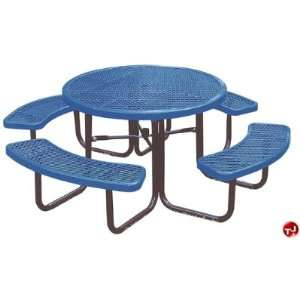 Midwest 358 RDV, 46 Round Outdoor Steel Picnic Table with