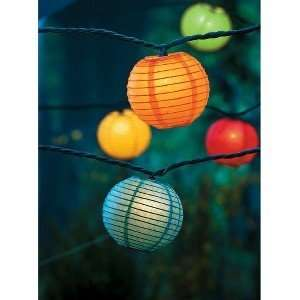Home 8 Paper Lantern String Lights   Multi (10 Count