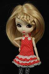 Blonde Hair line Braide Wig Hair Pullip Dal 1/3 Doll