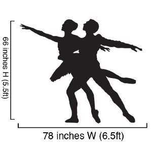 Vinyl Wall Art Decal Sticker Ballet Dancer Dual #313