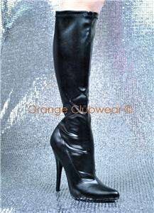 PLEASER Domina 2000 Womens Knee High Boots Heels Shoes