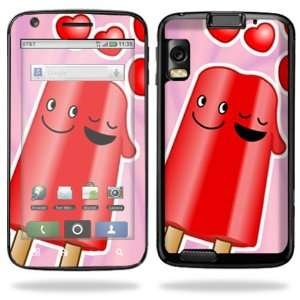 Skin Decal Cover for Motorola Atrix 4G Cell Phone   Popsicle Love