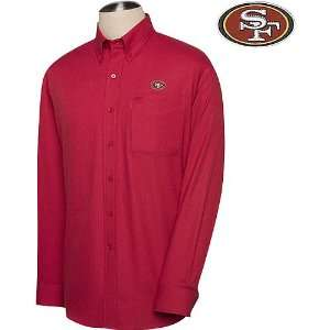 49ers Mens Nailshead Long Sleeve Shirt Extra Large