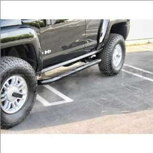 Black Horse Black Side Steps / Nerf Bars 06 10 Hummer H3 Automotive