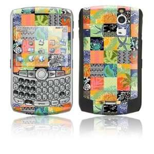 Tropical Patchwork Design Protective Skin Decal Sticker for Blackberry