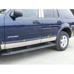 2005 06 Ford Explorer 8pc Rocker Panel Trim   w/flrs Automotive