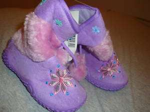 NEW Infant Baby Girl Snow Boots Purple Frisky Shoes 25