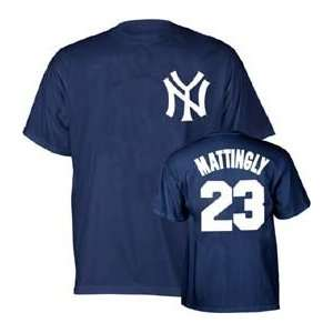 New York Yankees Don Mattingly Name and Number T Shirt