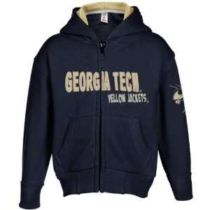 Tech Yellow Jackets Toddler Navy Blue Fury Full Zip Hoody Sweatshirt