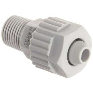 Tube Fitting, Adapter, Gray, 1/2 Tube OD x 1/4 NPT Male (Pack of 5