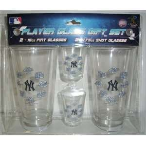 New York Yankees MLB Pint & Shot Glass Gift Set Sports
