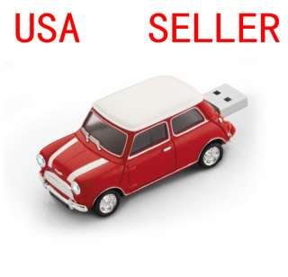 GB Red Mini Cooper Car USB flash pen drive memory stick sport