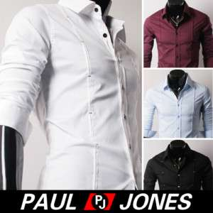 Mens Casual Slim Fit Fahion Dress Shirts HOT Styles