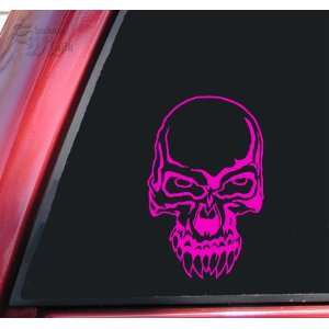 Demon Skull #2 Vinyl Decal Sticker   Hot Pink Automotive