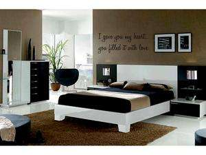 GAVE YOU MY HEART Vinyl Wall Decal Words Lettering Quote Bedroom