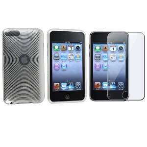 Clear White TPU Rubber Skin Case + Reusable Screen