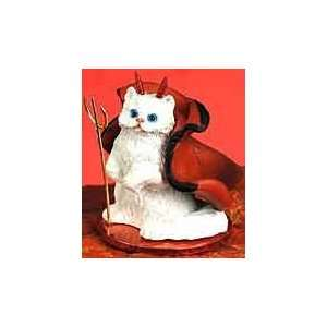 White Persian Cat Devil Figure Toys & Games