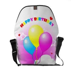 Cute Pink Elephant Happy Birthday Messenger Bag Electronics