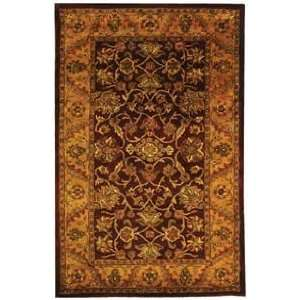 Safavieh Golden Jaipur GJ250C Burgundy and Gold Traditional 8 x 8