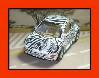ZEBRA VW VOLKSWAGEN NEW BEETLE 132 DIECAST CAR GIFT