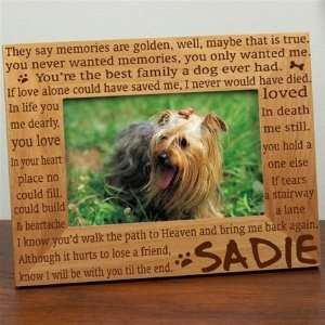 Til the End Pet Memorial Picture Frame personalized