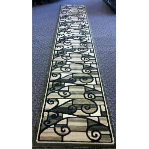 Modern Contemporary Long Area Rug Runner 32 Inch X 15 Ft 8