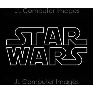 STAR WARS #3 WHITE DECAL 6 X 3