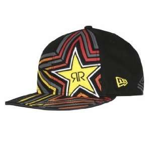Fox Racing Rockstar Spike Vortex New Era Hat Black 7 3/8