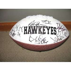 2010 University of Iowa team signed autographed logo football