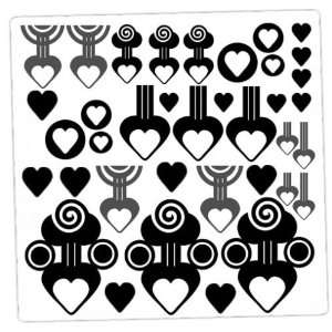 Swirly Hearts Awesome Love Wall Art Vinyl Decal