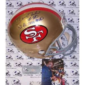 Jerry Rice Autographed Helmet   Authentic  Sports