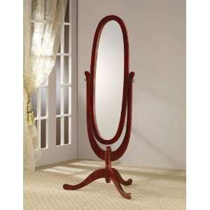 Floor Mirror In Cherry Wood Finish. (Item# Vista Furniture CF900532