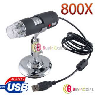 Practical 2MP USB 8 LED Digital Microscope Endoscope Magnifier 800X w