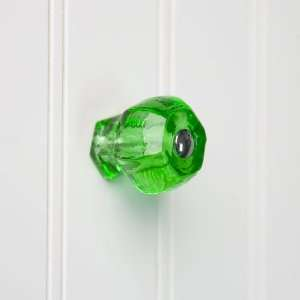 Medium Emerald Green Glass Cabinet Knob