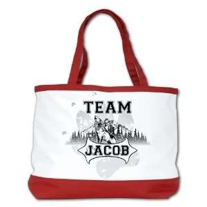 Bag Purse (2 Sided) Red Twilight Wolf Team Jacob