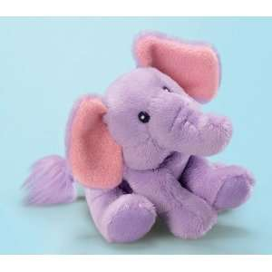 Russ Berrie Russ Purple Elephant Soft Toy / Rattle Baby
