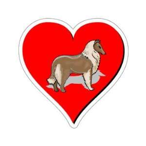 Collie Love   Window Bumper Sticker Automotive