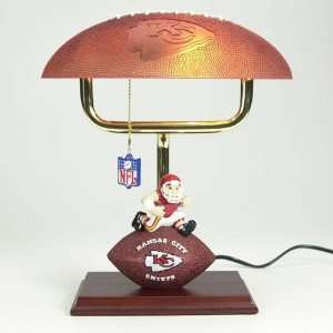 Kansas City Chiefs NFL Mascot Desk Lamp w/ Football Shade (14) Home