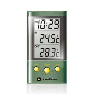 Deere Digital Clock with Indoor/Outdoor Thermometer